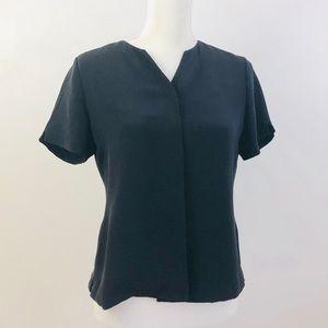 Talbots Pure Silk Short Sleeve Buttons Top Sz 6P